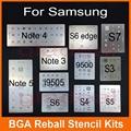 11 unids/lote Chip IC BGA Reballing plantilla Stencil Kits Set de Soldadura para samsung s4 s5 s6 edge i9300 i9500 nota 3 4 5 i9500