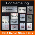11pcs/lot IC Chip BGA Reballing Stencil Kits Set Solder template for Samsung S4 S5 S6 Edge i9300 i9500 Note 3 4 5 i9500