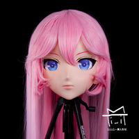 (LiLi Mask 58) Sweet Girl Resin Head Mask Kigurumi Cosplay Japanese Role Play Anime Silicone Kigurumi Mask Crossdresser Doll