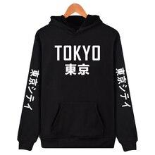 2019 New Arrival Japan Harajuku Hoodies Tokyo City Printing Pullover Sweatshirt Hip Hop Streetwear 4XL Plus Size Clothing