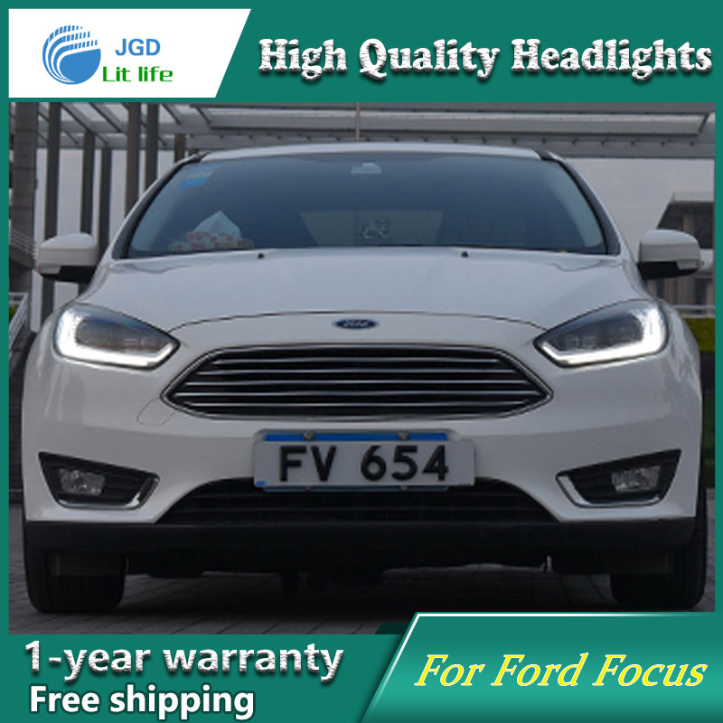 Car Styling Head Lamp case for Ford Focus Headlight Sentra LED Headlights DRL H7 D2H Hid Option Bi Xenon Beam hireno headlamp for 2016 hyundai elantra headlight assembly led drl angel lens double beam hid xenon 2pcs