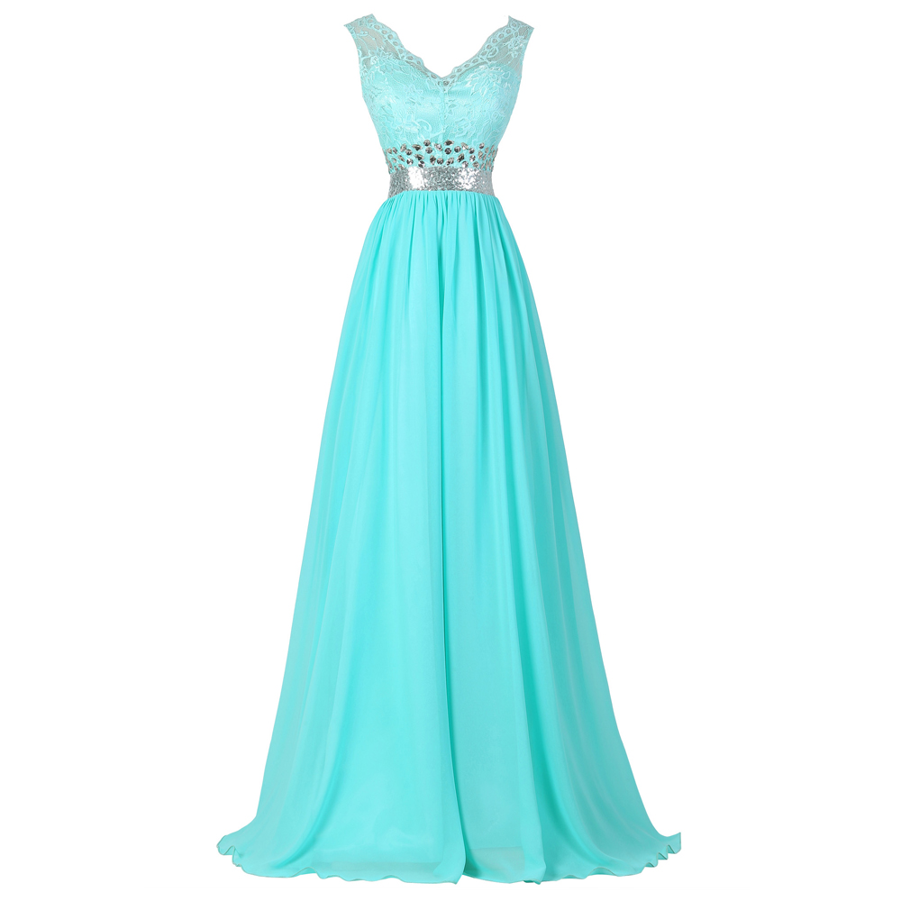 Aliexpress.com : Buy Long Formal Turquoise Evening dresses ...