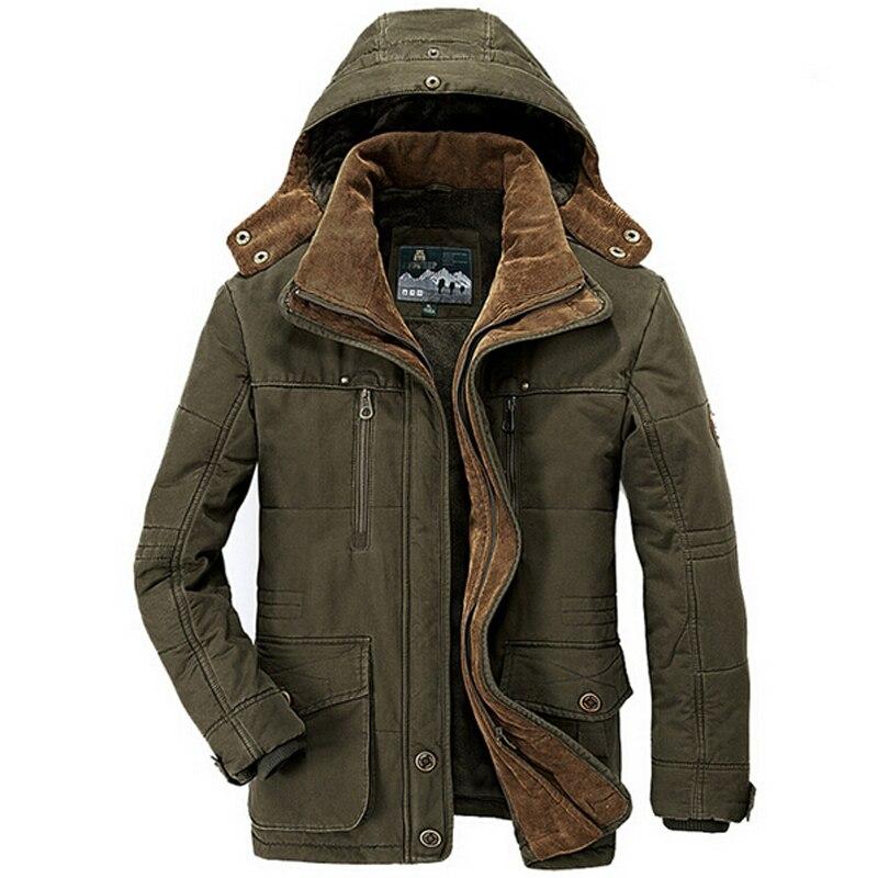 겨울 자켓 남자 두꺼운 따뜻한 군사 코튼 패딩 자켓 남자 후드 윈드 파커 파카 플러스 사이즈 5xl 6xl 코트-에서재킷부터 남성 의류 의  그룹 1