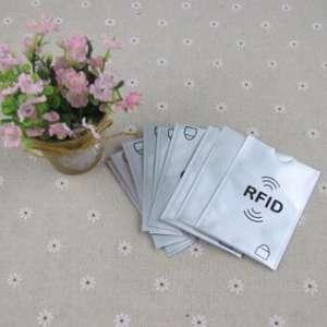 5000 pcs anti theft rfid credit card protector rfid blocking sleeve aluminum passport - Plastic Sleeves For Cards