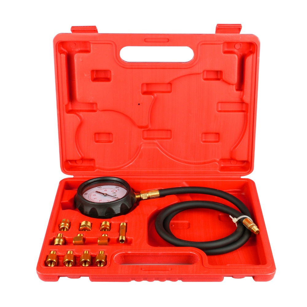 Everpower 12pcs set Automatic Transmission Engine Oil Pressure Cylinder Tester Gauge TU 11A Diagnostic Test Kit