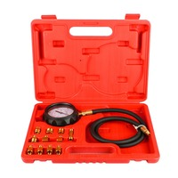 Everpower 12pcs/set Automatic Transmission Engine Oil Pressure Cylinder Tester Gauge TU 11A Diagnostic Test Kit 0 500psi