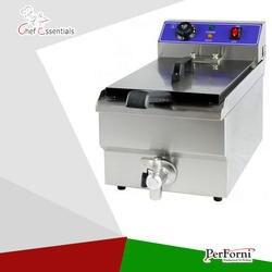 Электрическая фритюрница (EF-100)/10 литров/s. steel/Быстрый разогрев/масло тип ленты