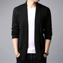 2018 New Autumn Winter Brand Clothing Sweater Men Fashion Solid Color Slim Fit Cardigan Men Open Long Stitch Knitted Sweater Men