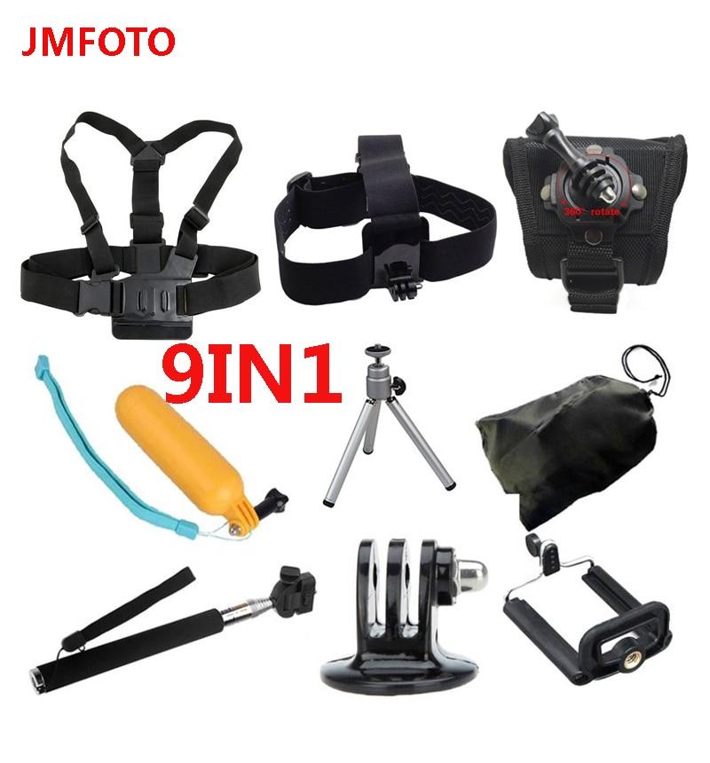 Gopro accessoires monopode sangle de tête de poitrine flottant monture Bobber pour Go pro Hero 4 3 xiaomi yi caméra d'action SJCAM SJ4000 SJ5000