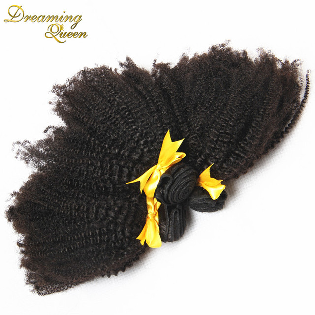 Rosa Hair Products 7A Brazilian Afro Kinky Curly Virgin Human Hair Weave 3pcs 100% Unprocessed Human Hair 4A-4C Very soft Curly