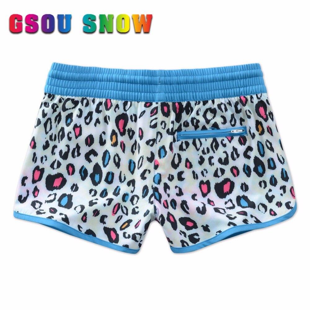 d9b0a4cd4a GSOU SNOW Brand Plus Size Leopard Print Surf Shorts Women Bikini Bottoms Swim  Beach Shorts Quick Dry Sunscreen Surfing Swimwear