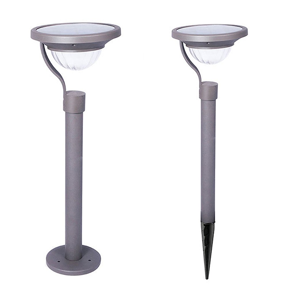 Warm White Stainless Steel Solar Powered Lawn Light Waterproof Outdoor Light for Garden Landscape Pathway Stairway Lawn Lamps     -