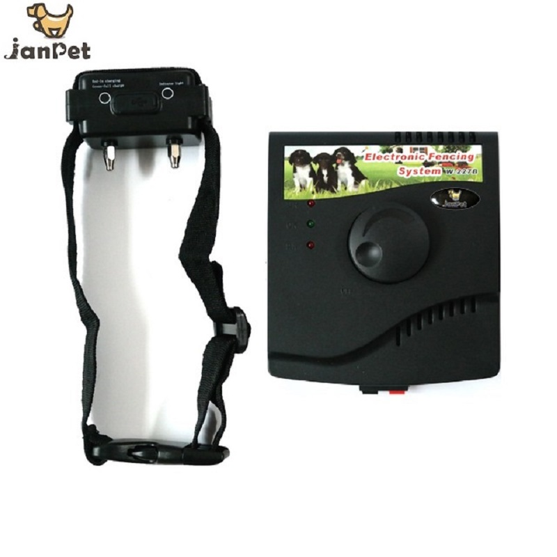 janpet invisible electric dog fence underground pet fencing system w227b with rechargeble receivers