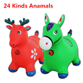 New Arrival Extra Thickness Large Baby Inflatable Rubber Jumping Horse Deer 25  kinds animals Baby Fitness Sports Equipment Toy