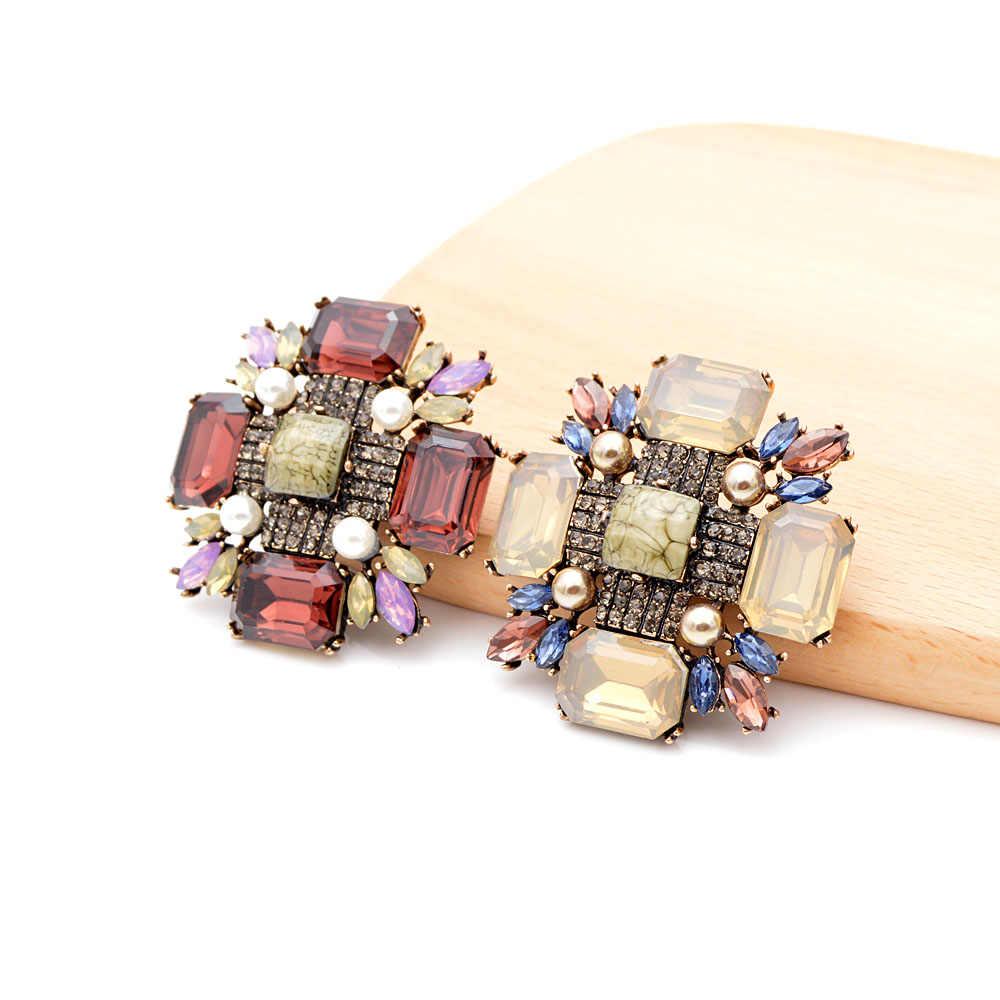 Cindy Xiang Kristal Besar Cross Bros untuk Wanita Fashion Vintage Musim Dingin Pin Aksesoris Pesta Desain Baru Korsase Hadiah