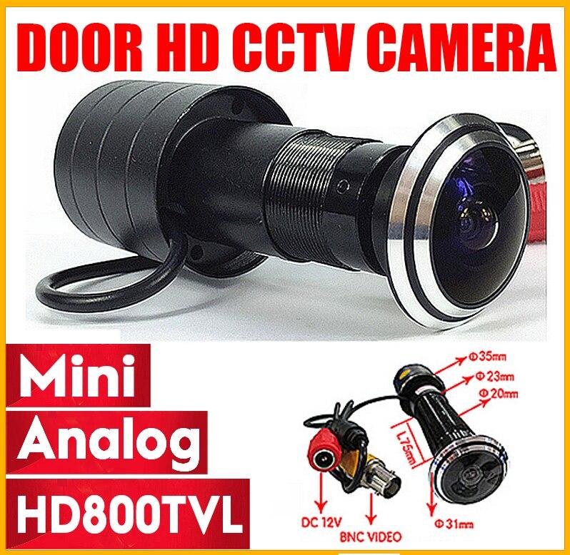 HD 110 grado 1,78mm de ojo de pez de ángulo ancho puerta ojo de gato bala Mini mirilla y Video de vigilancia de seguridad CMOS 800TVL CCTV cámara