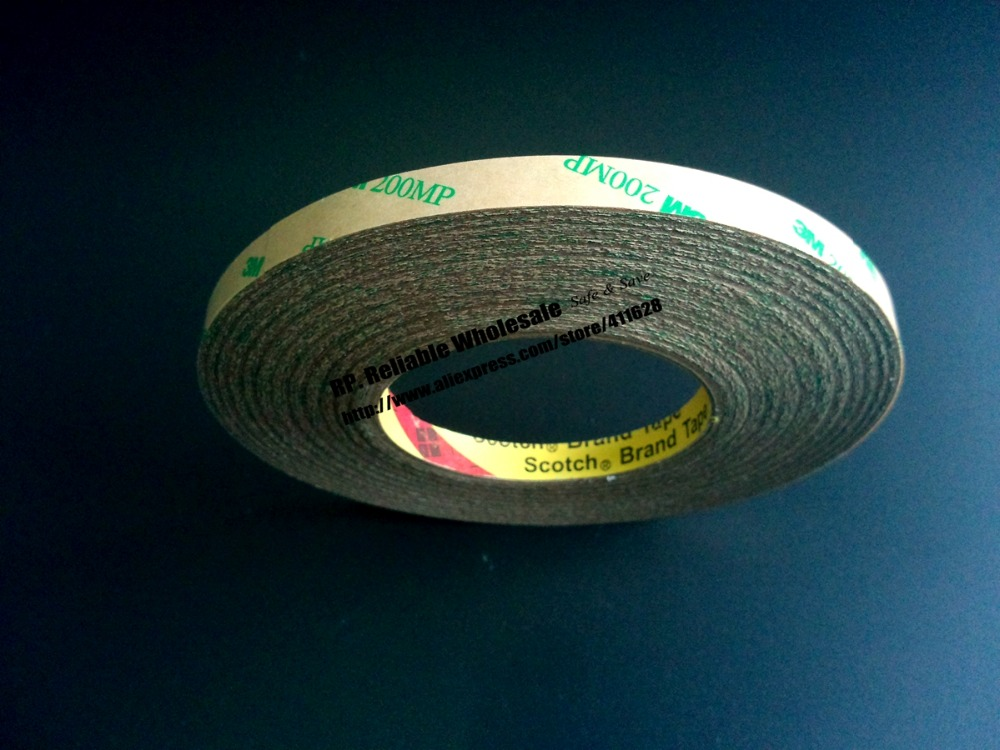 1x Original New 14mm*55M High Temperature Resist, Waterproof, Strong Adhesion, <font><b>3M</b></font> <font><b>200MP</b></font> Clear Tape image