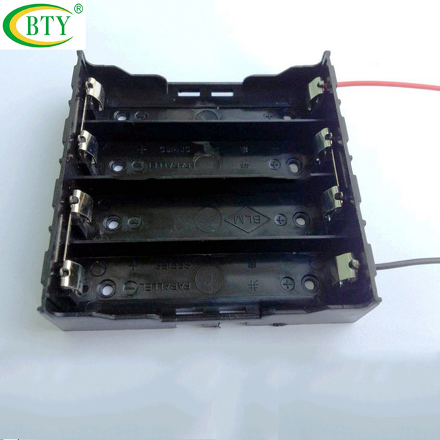 10pcs Plastic DIY 18650 Battery Box Container For 4X18650 Battery Organizer  Storage Boxes Holder Wire Leads