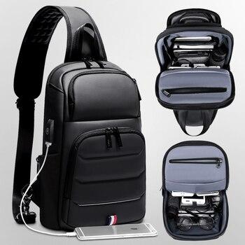 Umhängetaschen Handtaschen | ROWE Umhängetaschen Für Männer Sling Tasche Mit Usb Business Casual Messenger Brust Schulter Tasche Männlichen Wasserdicht