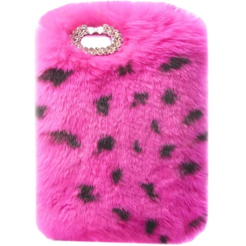 New Super Deluxe Luxury Bling Diamond Bowknot Fluffy Winter Warm Furry Fluffy Beaver Rex Rabbit Fur Case For ipad mini 1/2/3