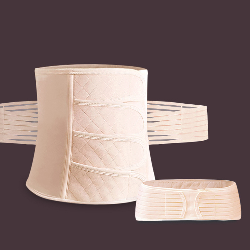 Belly Slimming Bandages Prenatal Postnatal Supplies Postpartum <font><b>Belt</b></font> Band Girdle Body Recovery Shapewear Trainer Corset 2in1 image