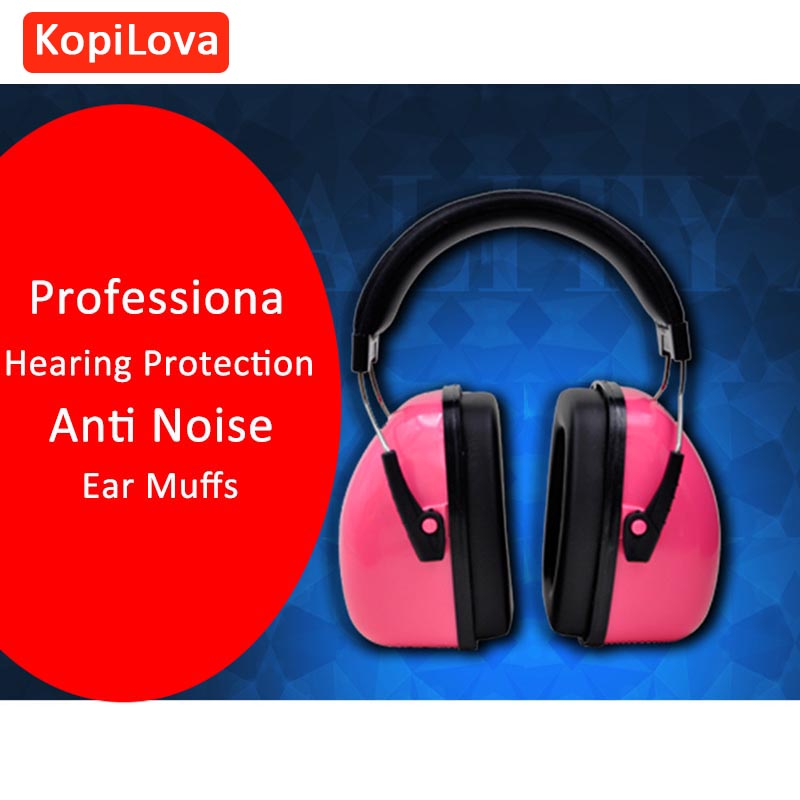 KopiLova Pink Noise Reducing Ear Muffs Personalized Hearing Protective Soundproof Earmuff for Shooting Hunting Sleeping