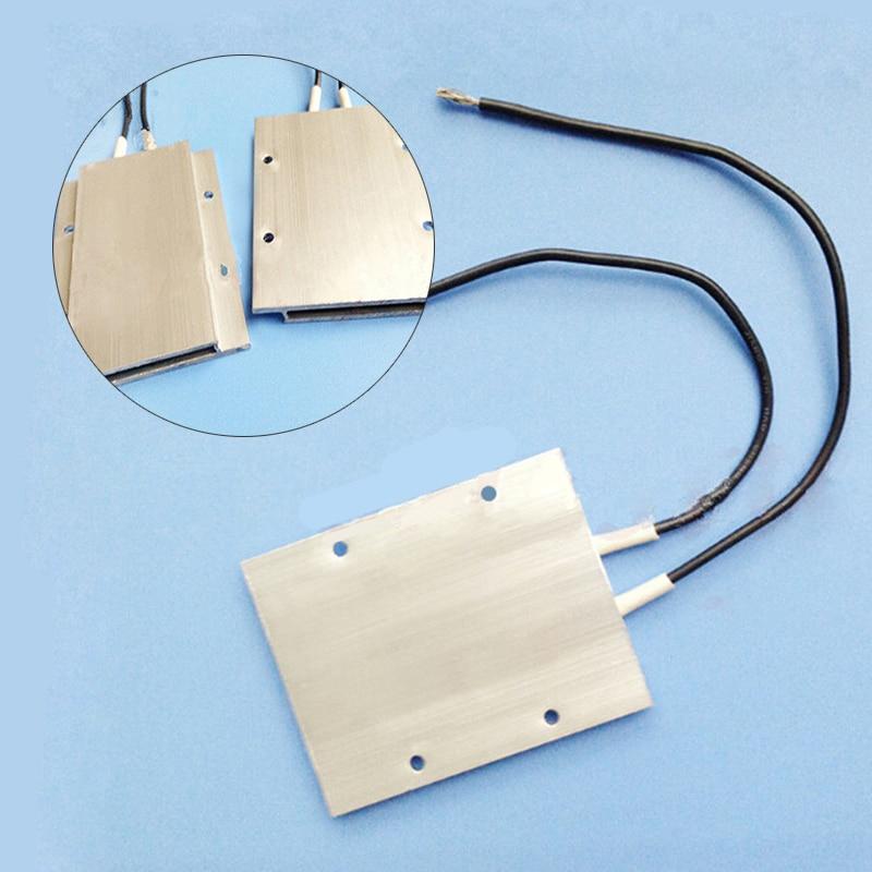 1PCS PTC Thermostat Aluminum Heating Element Heater Plate 60W AC/DC 12V 180 Degree Incubator Dehumidification Mayitr