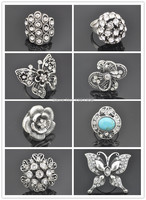 62.95S Finger Ring Stone with Crystal Jewelry Factory Price Fashion Tibet Alloy wholesale