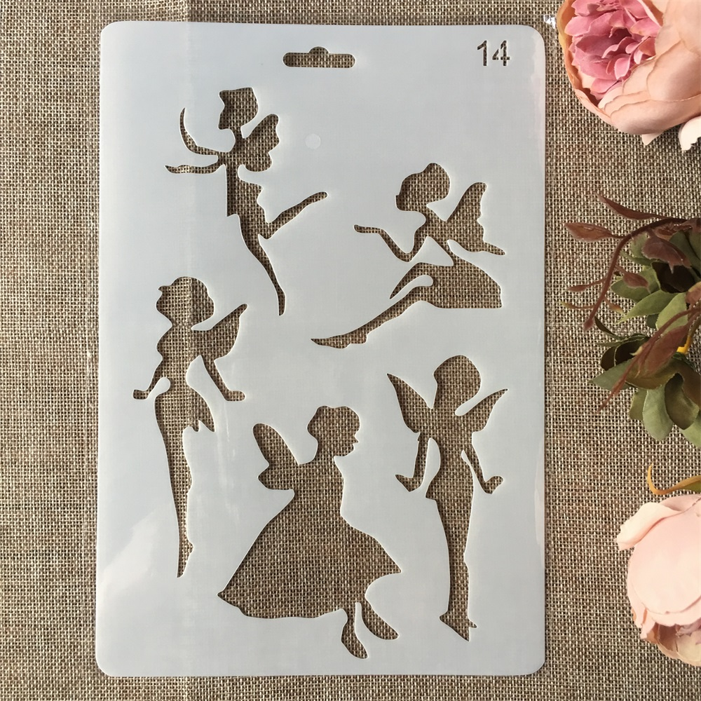 New 26cm Fairy Girl DIY Craft Layering Stencils Painting Scrapbooking Stamping Embossing Album Paper Card Template