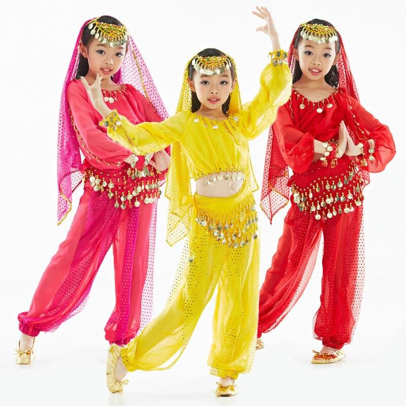 Oriental Dance Costumes Girls Stage Dance Wear Children Belly