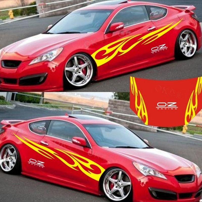 Image 2 - LumiParty 3D Flame Totem Decals Car Stickers Full Body Car Styling Vinyl Decal Sticker for Cars Decoration Strong adhesive r30-in Car Stickers from Automobiles & Motorcycles