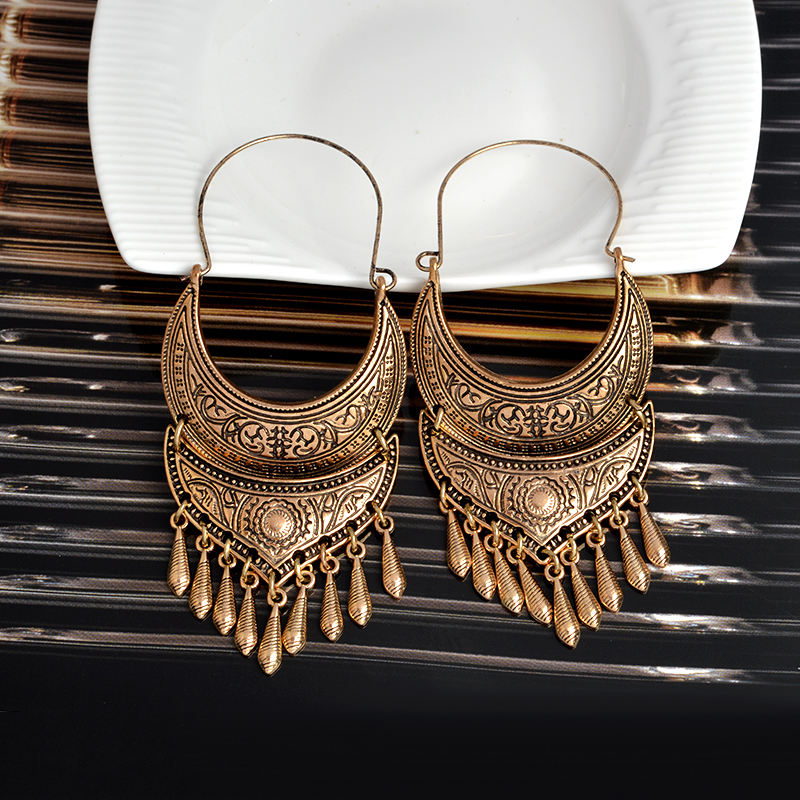 QIHE ΚΟΣΜΗΜΑΤΑ Αρχαία ασημένια χρυσά - Κοσμήματα μόδας - Φωτογραφία 5