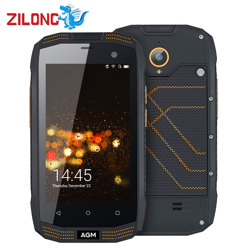 "bilder für AGM A2 Rio Rugged SmartPhone Waterproof IP68 4,0 ""8MP QUAD Core Android 5.1 2 GB RAM 16 GB ROM 4G LTE NFC OTG 2600 mah handy"