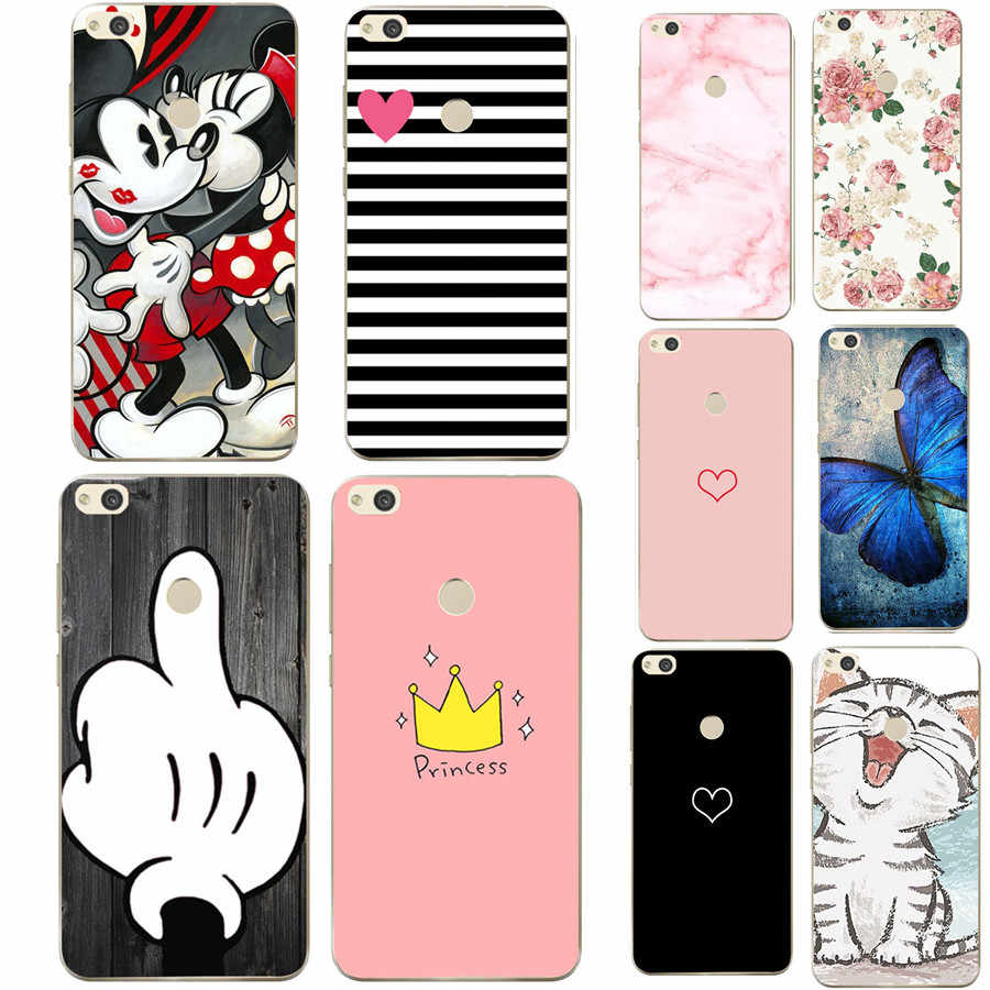 Silicone Case For Huawei Y6 Prime 2018 Case For huawei P Smart Honor9 Lite P20 Mate10 Lite Phone Back Cover soft tpu bumper bag