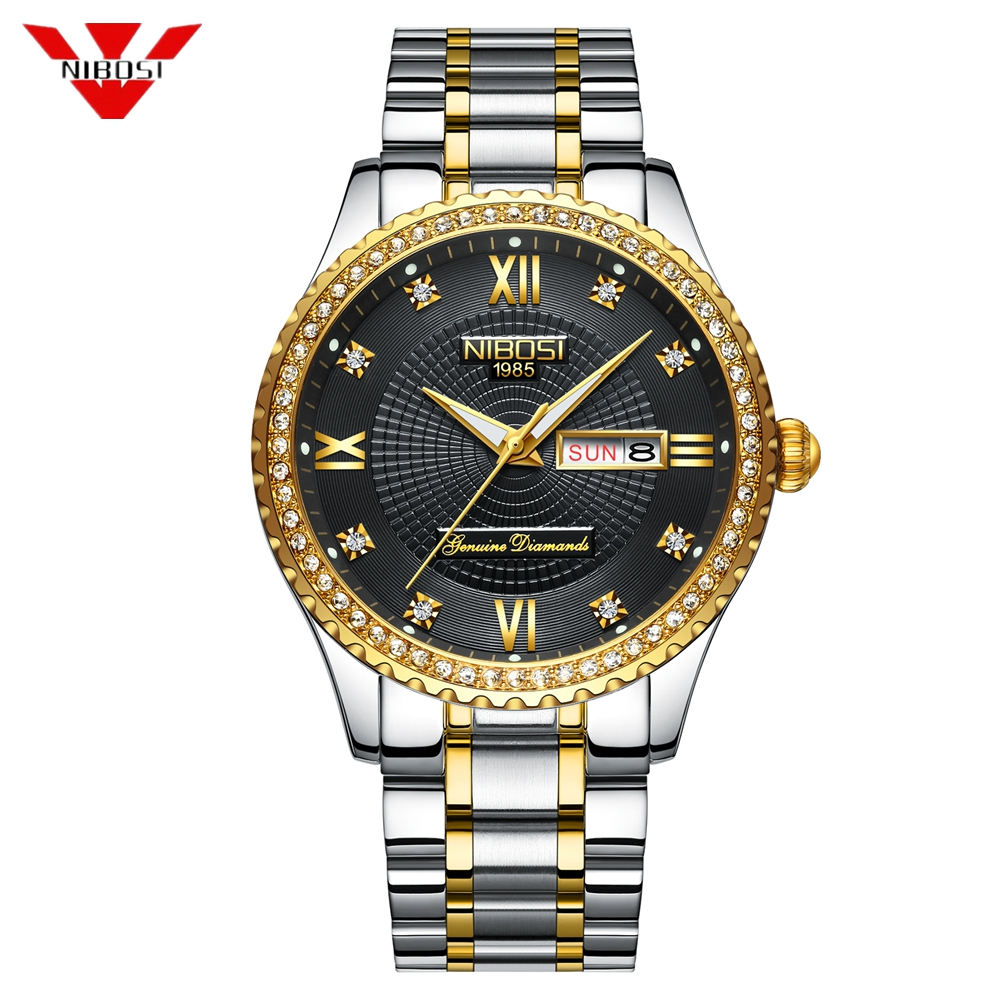 NIBOSI Automatic Mechanical Watch Men Full Steel Business Mens Watches Top Brand Luxury Waterproof Sport Watch