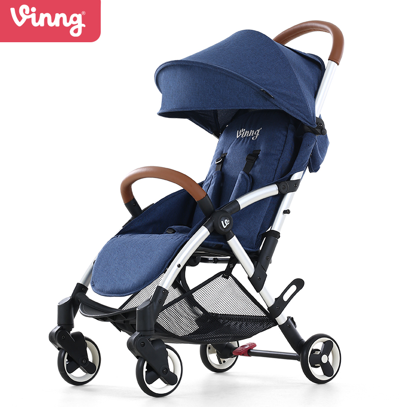 Vinng,baby stroller, can sit and can lie down,high landscape baby stroller, convenient folding, damping babythrone baby stroller portable folding stroller can sit and lie down widen and widen the four wheel shock absorbers