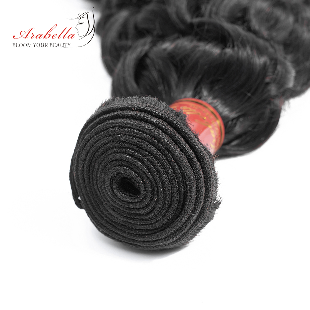 Arabella Hair Peruvian Water Wave Bundles 100% Human Hair Bundles Natural Color Remy Hair Extension 30 Inch Bundles 1/3 Pieces
