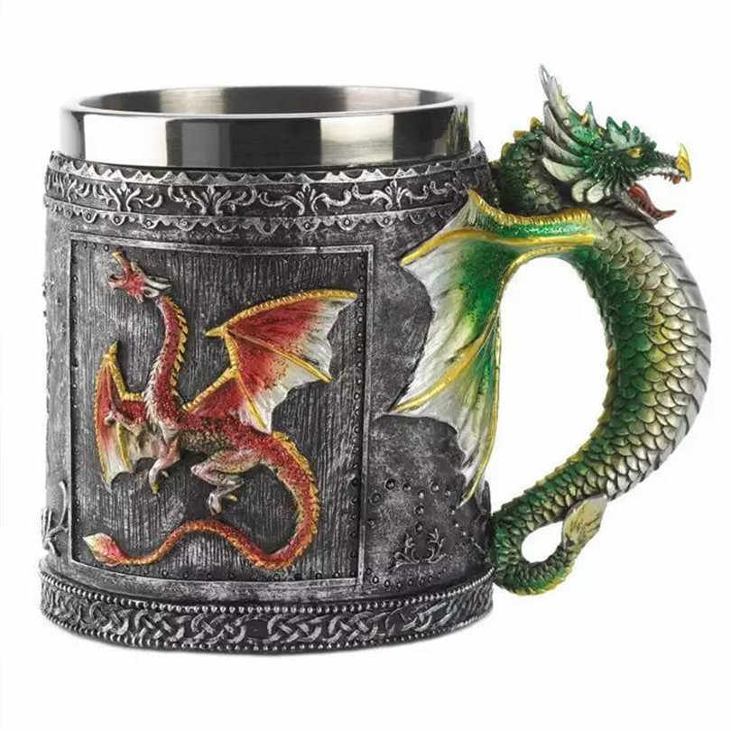 2017 Promotion 1PC Tea Cup Copo Caneca Decorative Royal Cool Dragon For Creative Gift Medieval Game Of Thrones Mugs