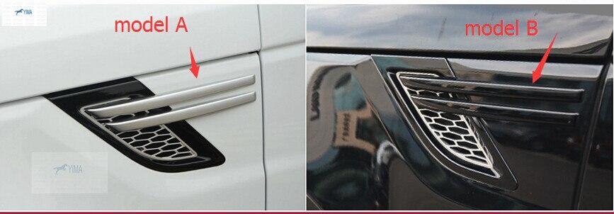 Для диапазона Rover Спорт 2014 2015 АБС Боковая дверь дефлектор Крышка отделка 4 шт / комплект