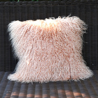 CX D 04S Custom Size Mongolia Lamb Fur Real Fur Sofa/ Seat Decoration Cushion Cover ~DROP SHIPPING