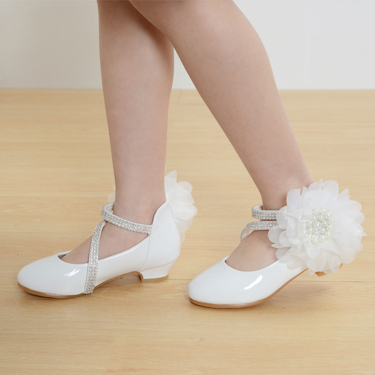 2017 Children new fashion high heels leather shoes princess style party prom shoes for girls high quality non-slip dancing shoes2017 Children new fashion high heels leather shoes princess style party prom shoes for girls high quality non-slip dancing shoes
