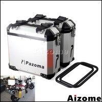 Motorcycle 36L Side Cases Saddlebag Rear Luggage Bag Panniers Side Boxes For BMW Suzuki Yamaha Kawasaki Street Bike