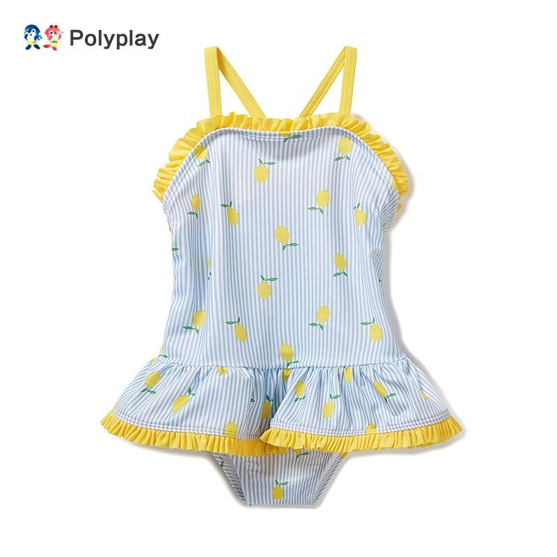 2019 verão feminino bebê princesa vento de uma peça maiô