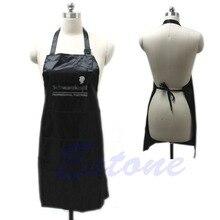 Adjustable Black Bib Apron Uniform With 2 Pockets Hairdresser Salon Hair Tool