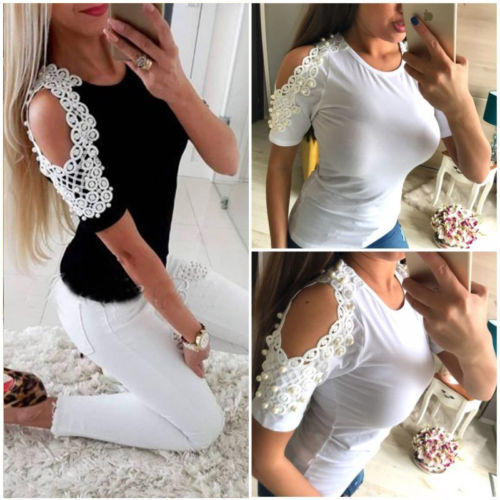 Women's Clothing Analytical 2019 Women Blouse Tops Summer Top Casual Loose Short Sleeve Sequins V-neck Blouses Female Shirts Vest Blusa Plus Size Moderate Price