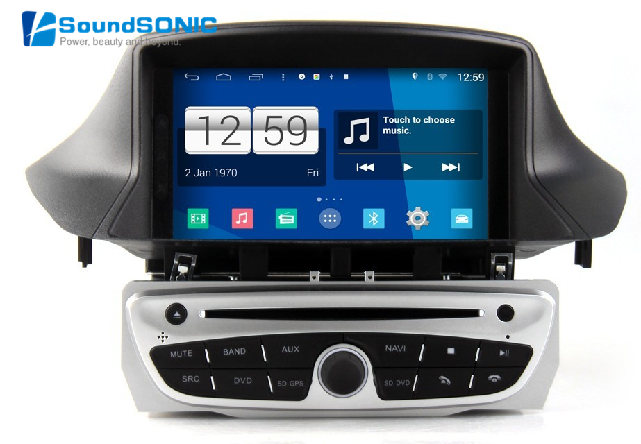 android 4 4 4 for renault megane iii 3 fluence 2din 7 inch car dvd gps navigation navigator. Black Bedroom Furniture Sets. Home Design Ideas