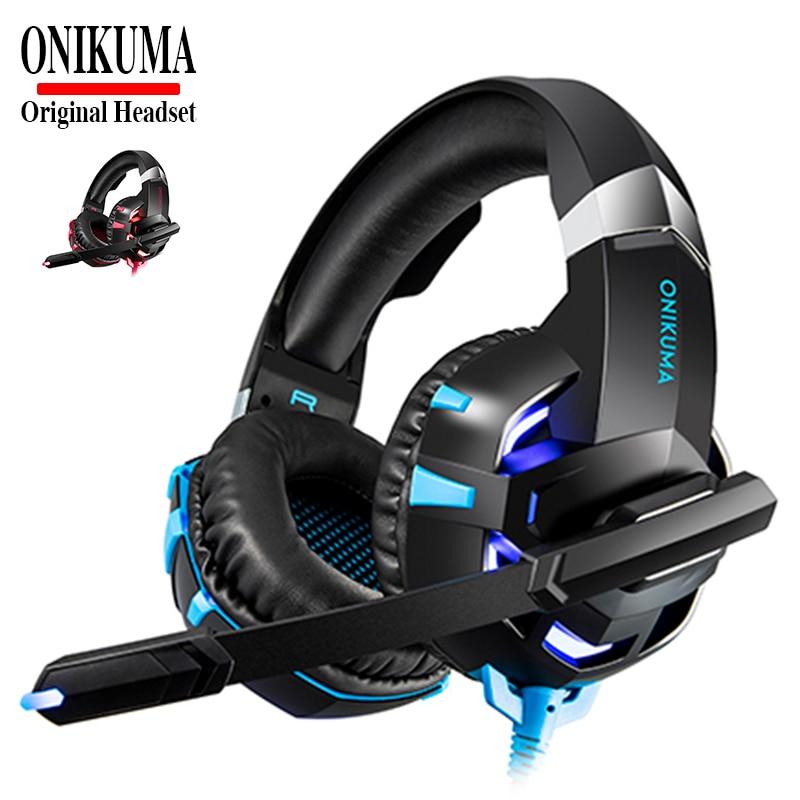 ONIKUMA K2A Cuffia Casque HIFI Stereo Gaming Headset PS4 Cuffie con Microfono per il Computer Portatile Tablet New Xbox One
