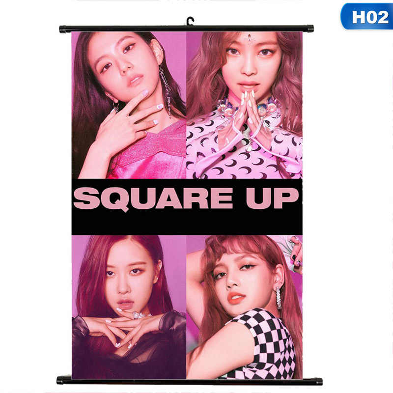 BTS KPOP BLACKPINK As If It's Your Last Album LOMO Cards K-POP New Fashion  Self Made Scroll Painting Hanging HD Photo