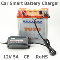 Wholesale original 12V 5A 4 stage smart Lead Acid Battery Charger, Car battery charger, pulse charge, Desulfator,100 240V input