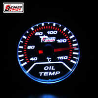 Dragon gauge 52 mm Pointer type car Modified Oil temperature meter white Backlight With sensor Oil temp gague Free shipping